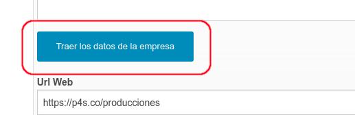 Este botón trae los mismos datos de contacto de la empresa.
