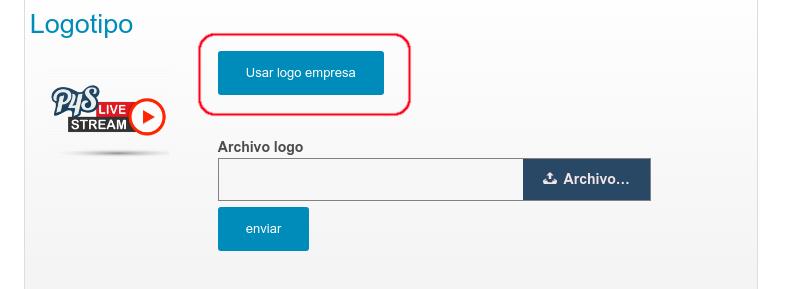 Este botón trae el mismo logotipo de la empresa.