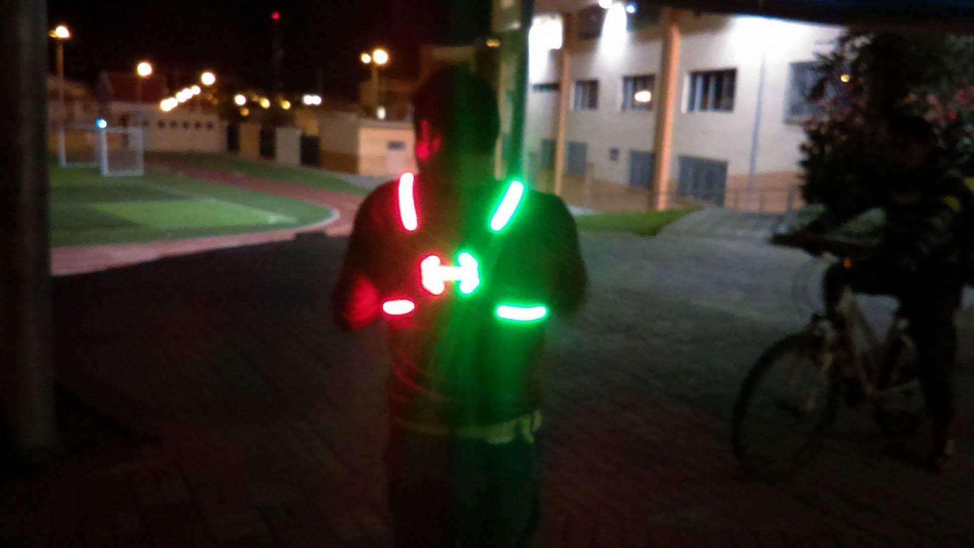 Señales de luces para ciclistas
